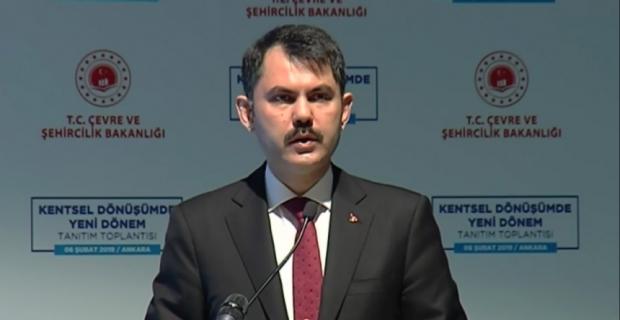 """Bakan Kurum: """"Yıllık en az 300 bin konut dönüştürme hedefi koyduk"""""""